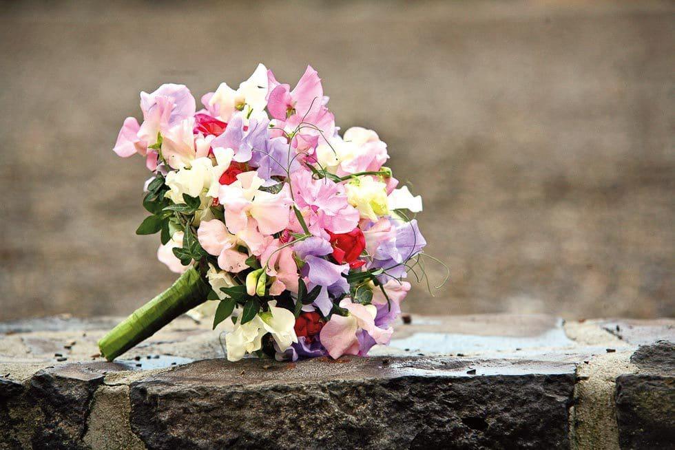 Brautstrauß Pink und Llila
