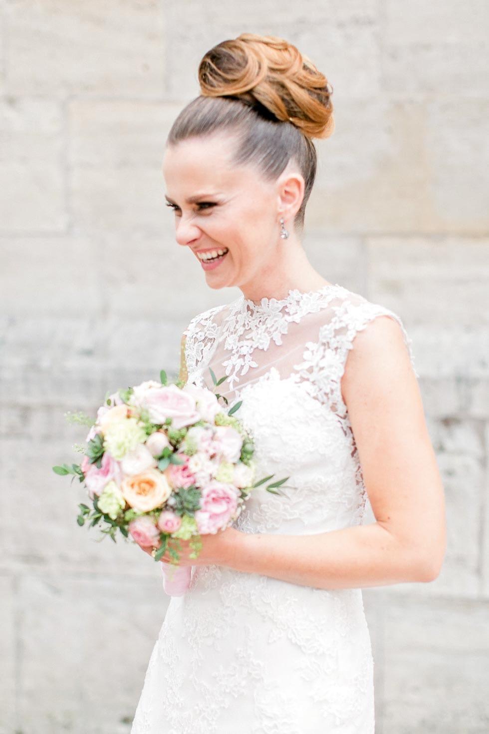 Brautstrauß Rosa und Weiß