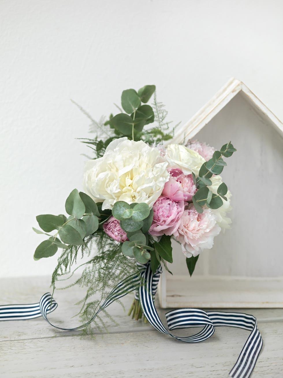 Brautstrauß Weiß und Rosa