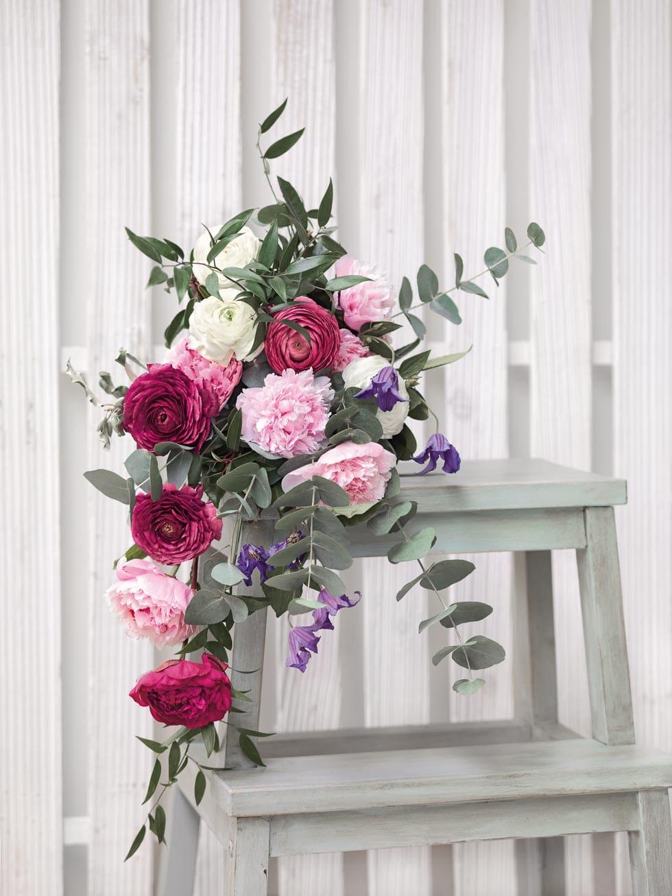 Brautstrauß Weiß, Rosa und Pink