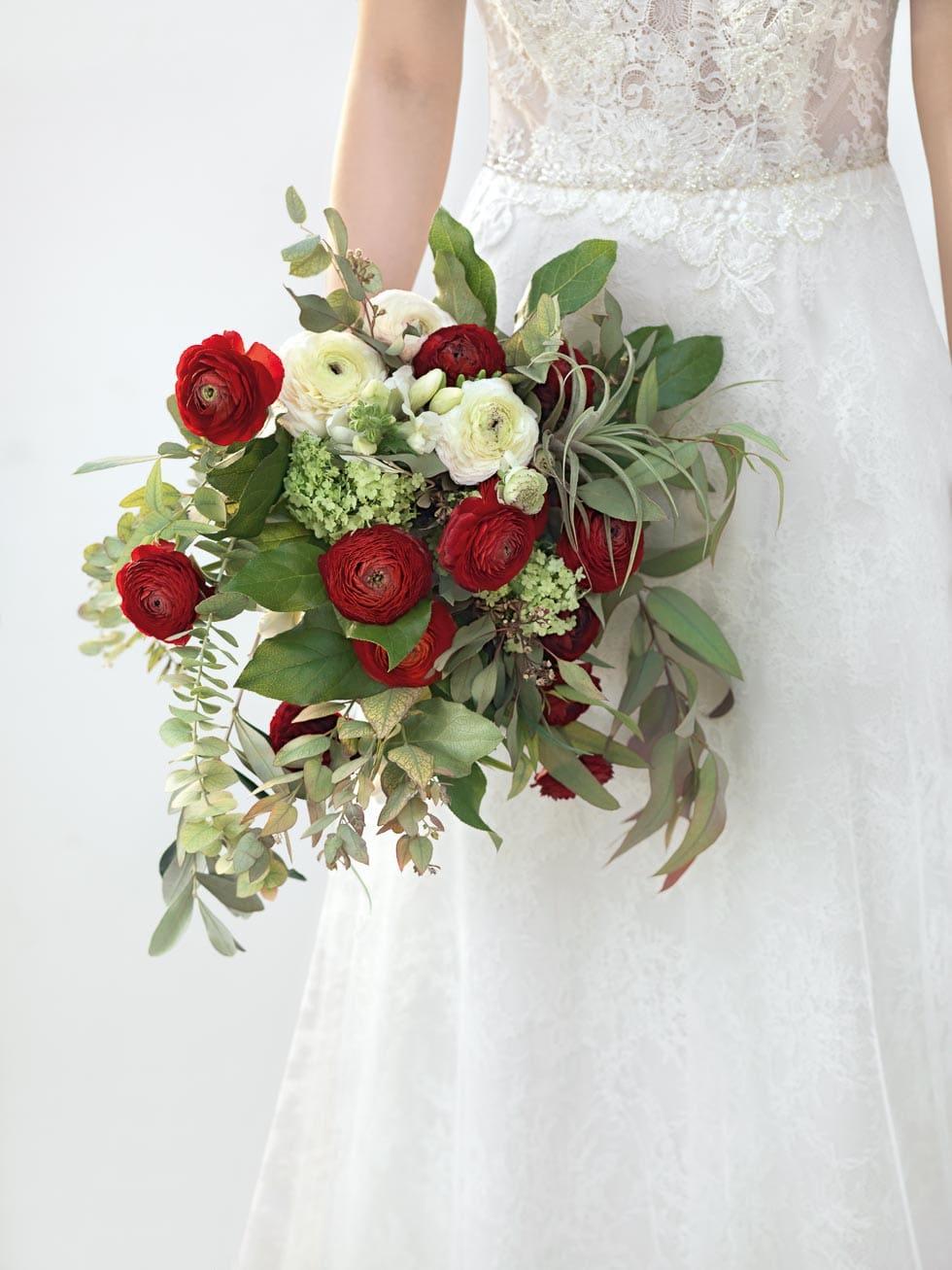 Brautstrauss Rot Und Weiss