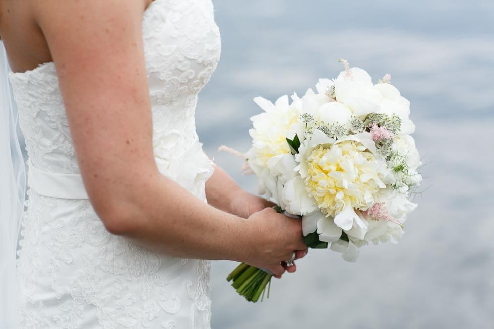 Brautstrauß Weiß und Gelb