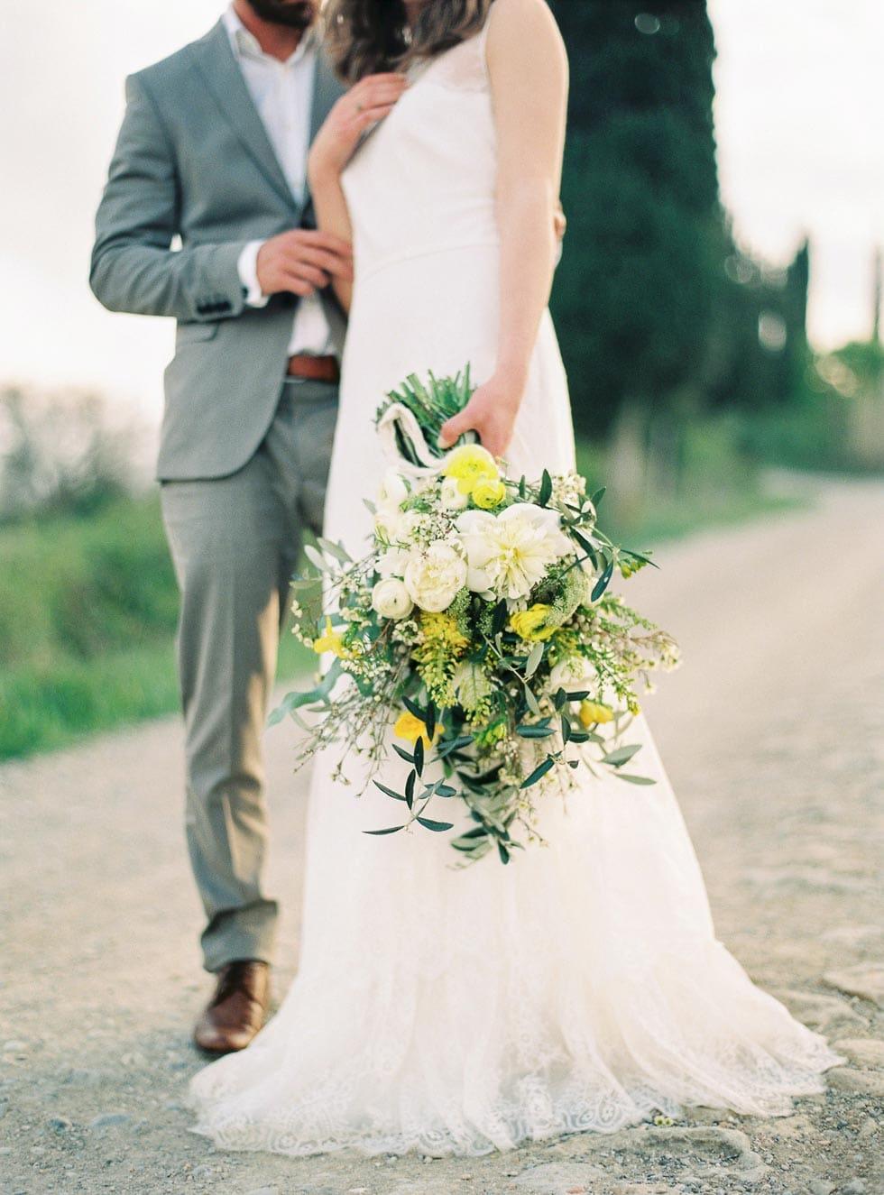 Brautstrauß Gelb und Weiß