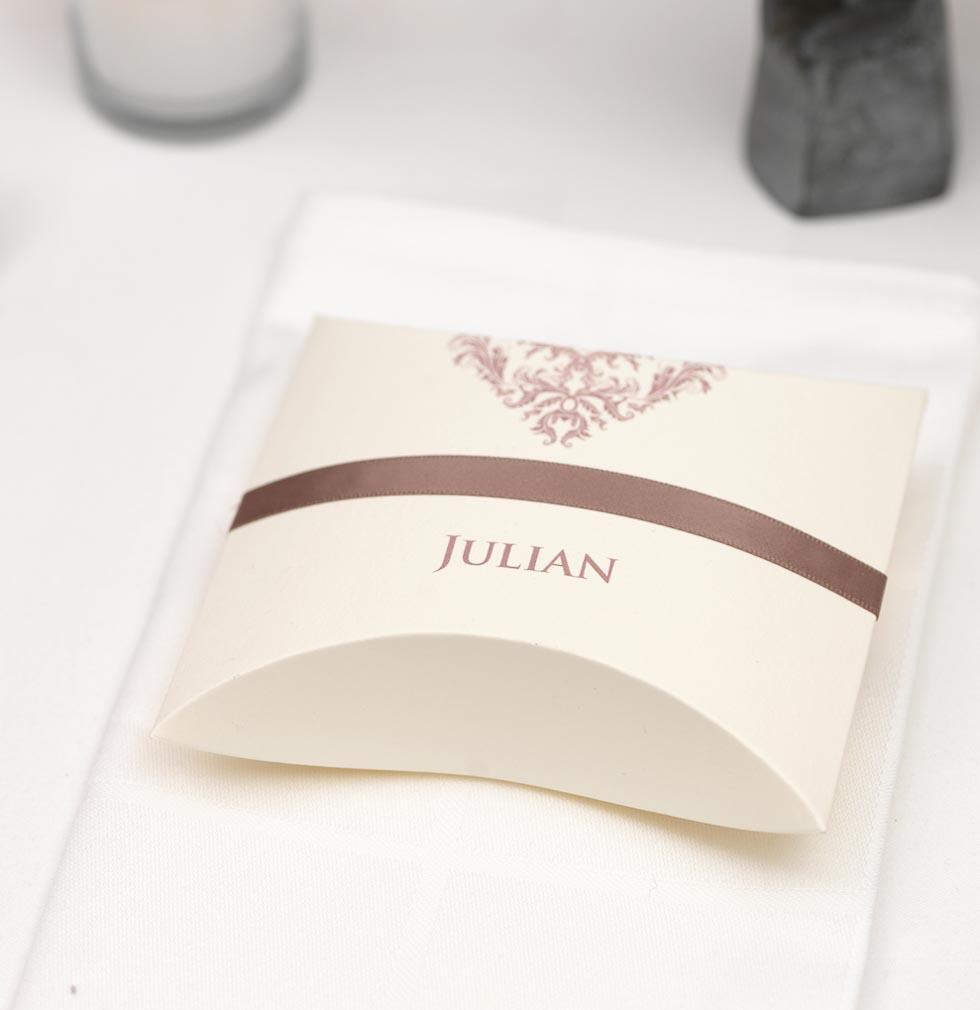 Kissenbox individuell Gastgeschenke