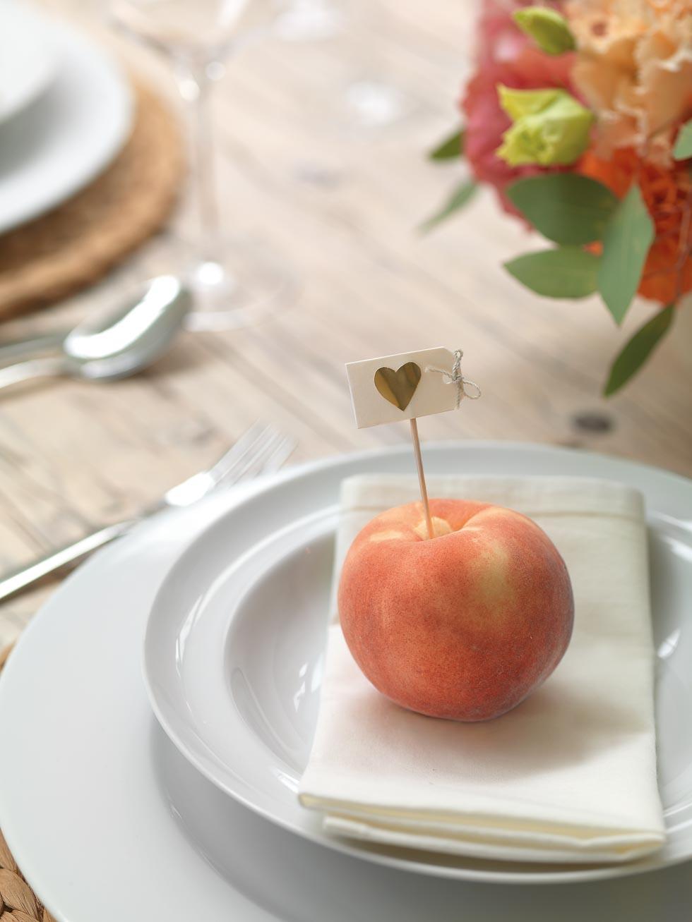 Gastgeschenke Früchte Pffirsich
