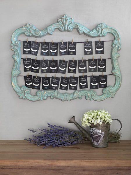 Tischfinder und Namenskarten