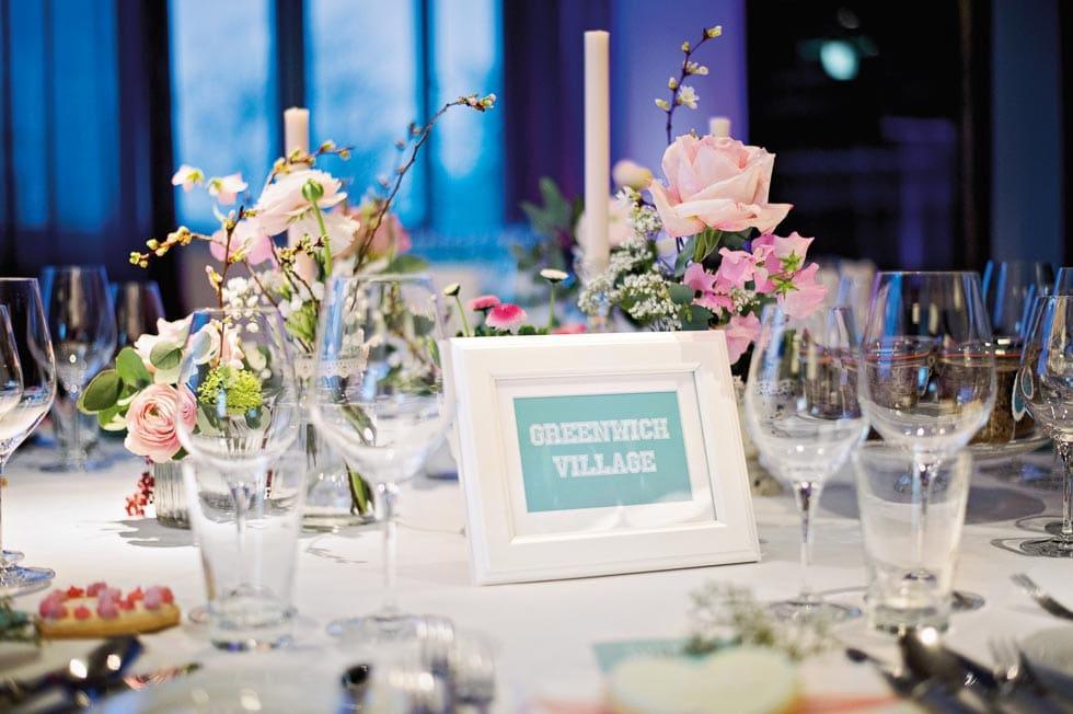 kreative Tischnummer mit Lieblingsorten