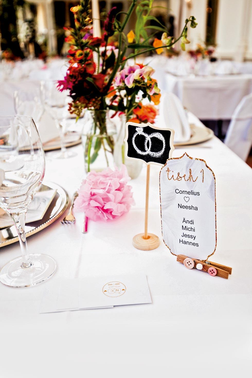Tischnummer für die Hochzeit – 69 Beispiele & Inspirationen