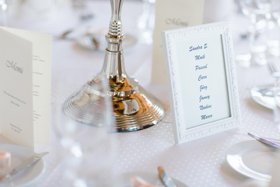 Namenskarte und Tischfinder