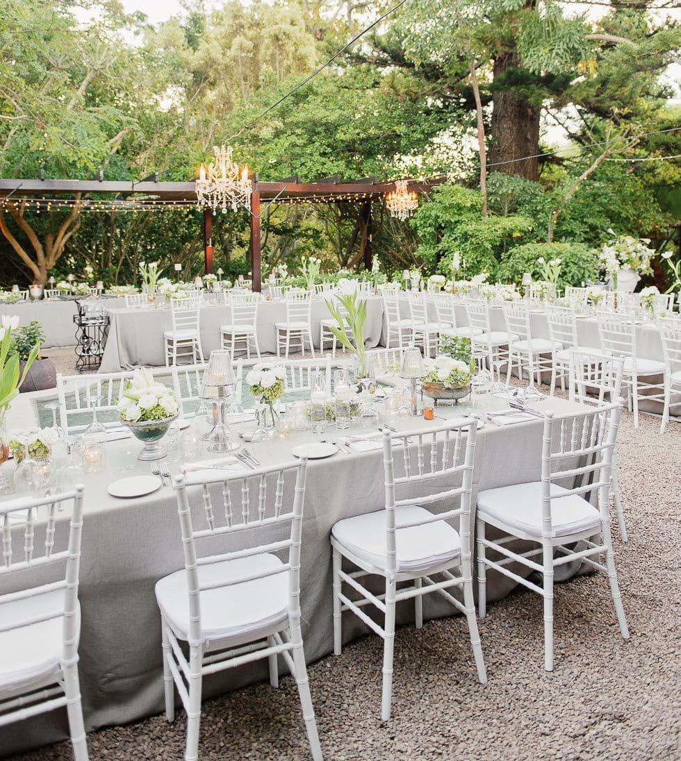 Tischdeko Garten Hochzeit