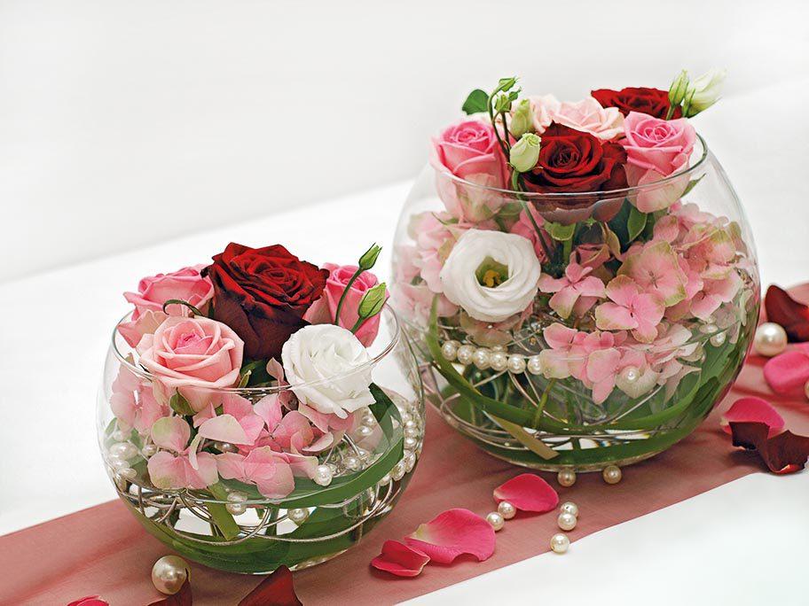 Tischdekoration Rosa Rot Und Weiss