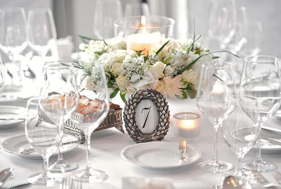 Blumenkranz Tischdeko