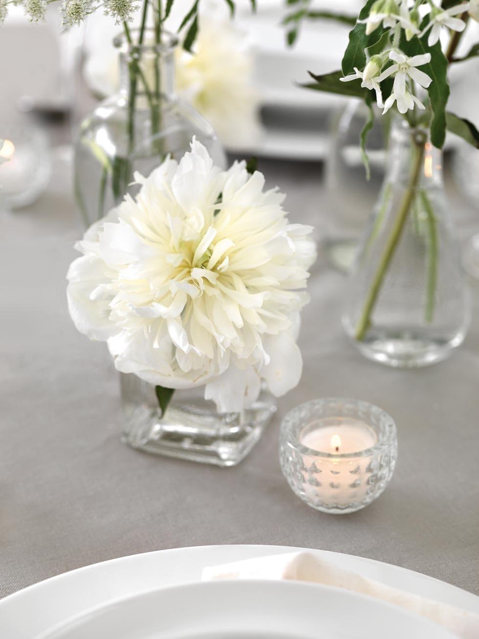 Tischdeko Weiß