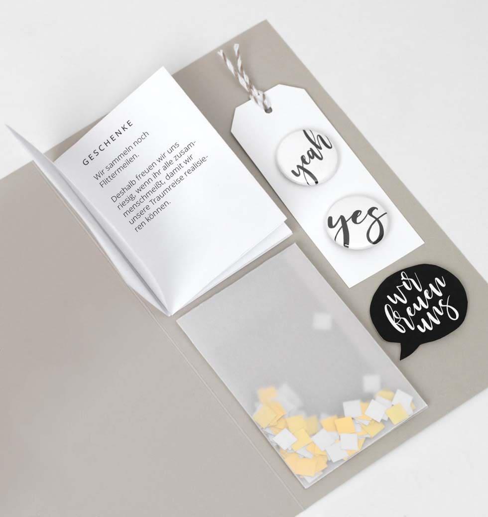 Hochzeitseinladung Details