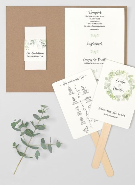 Kirchenheft Eukalyptus Kraftpapier