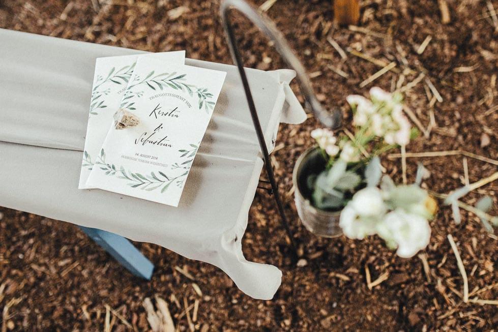Kirchenheft Hochzeit Blätterkranz