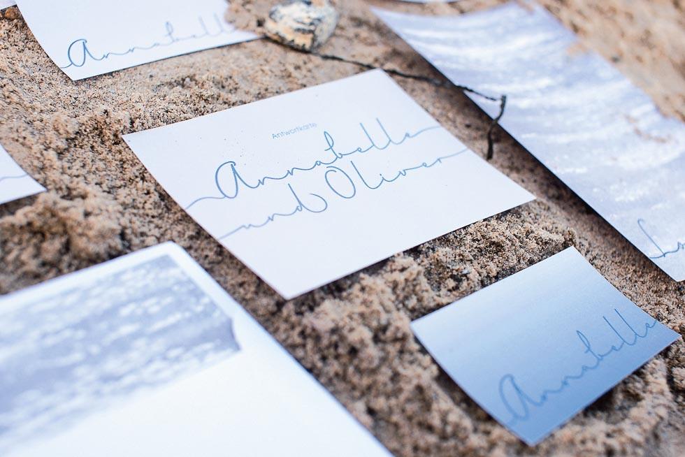 Papeterieserie Blau und Weiß