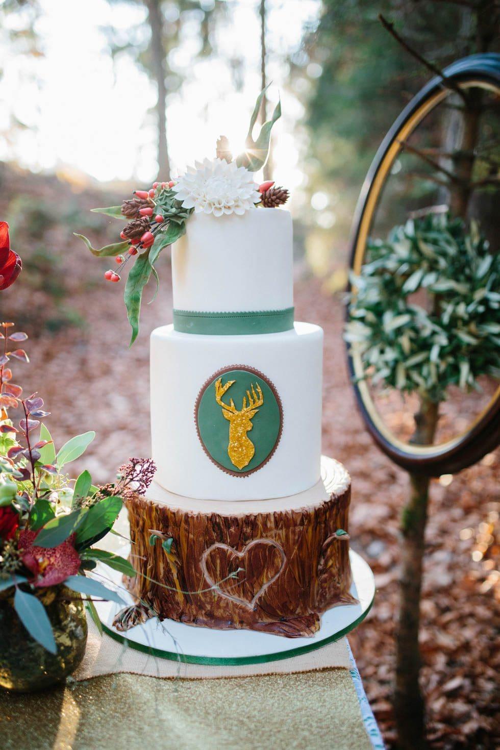 Hochzeitstorte Waldhochzeit