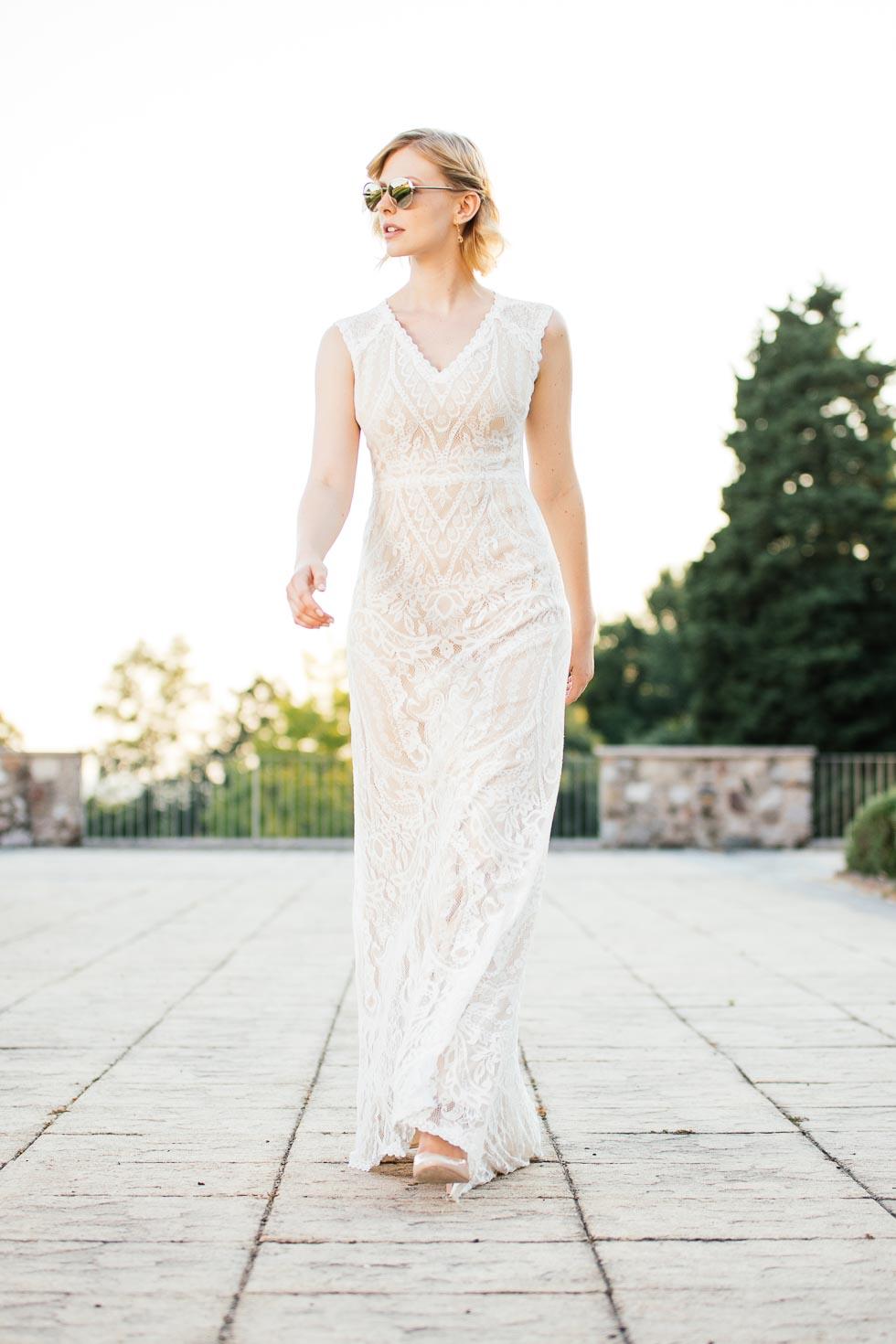 küss die Braut Brautkleid Boho