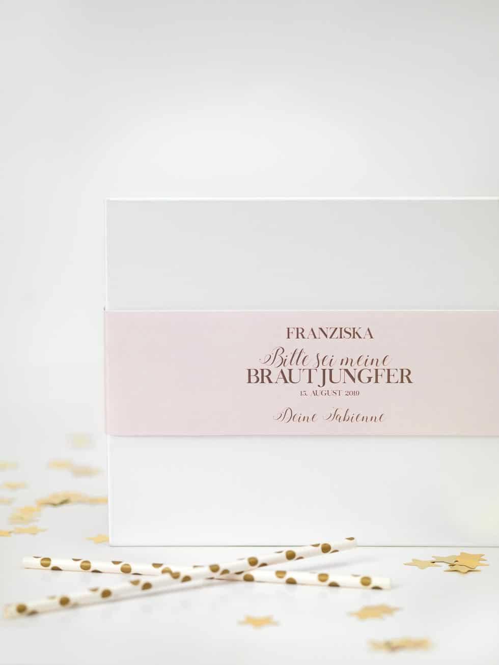 Geschenk Verpackung Brautjungfer
