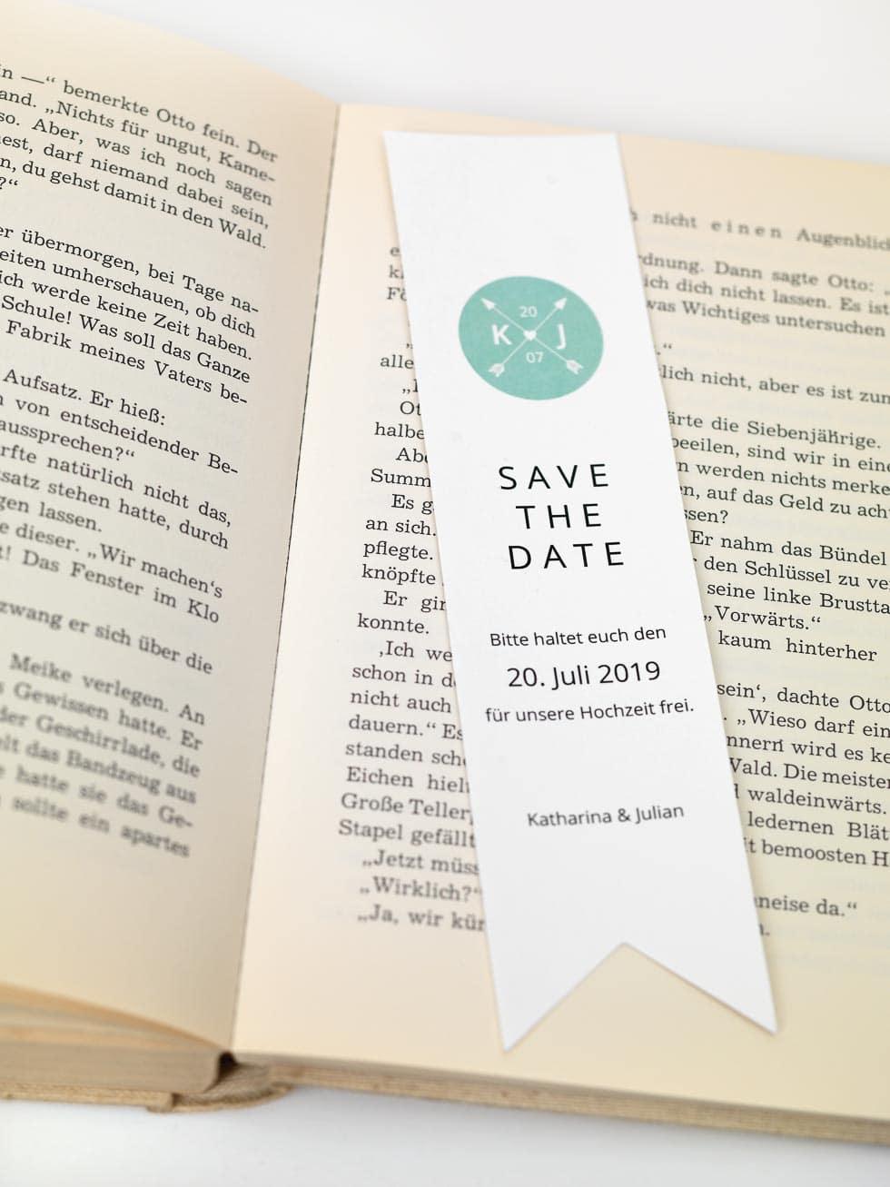 Lesezeichen Save-the-Date