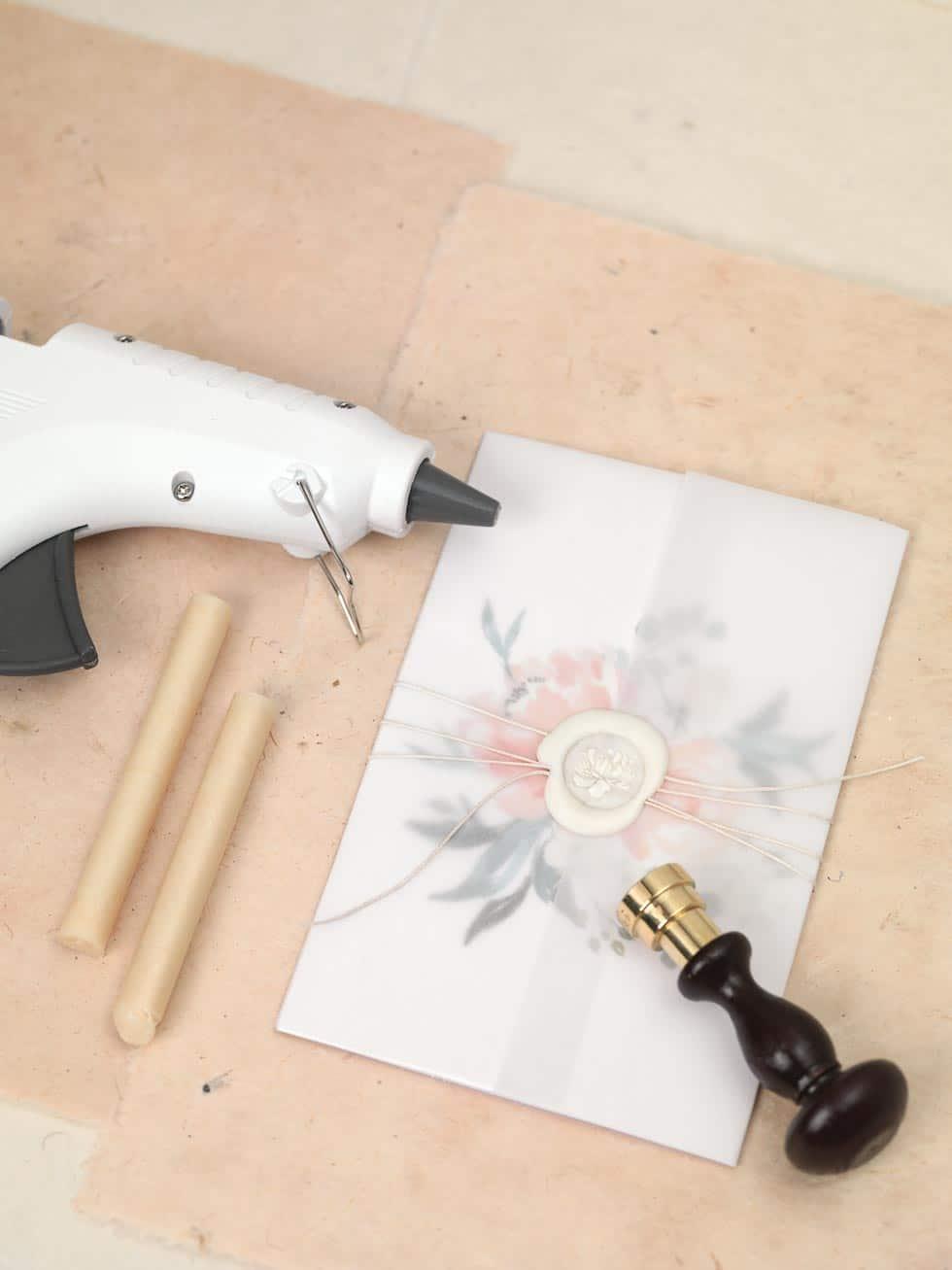 DIY Hochzeitspapeterie Umschlag