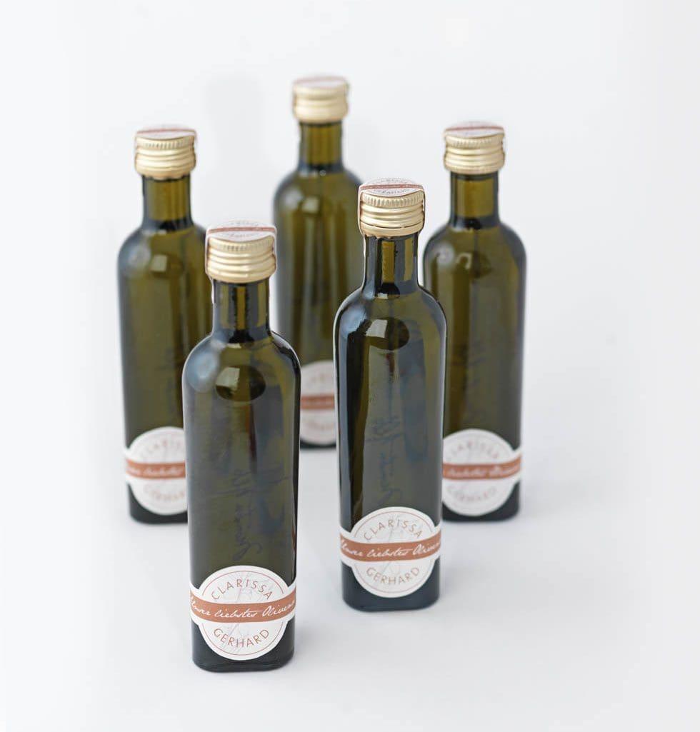 Gastgeschenke Olivenöl-Flaschen
