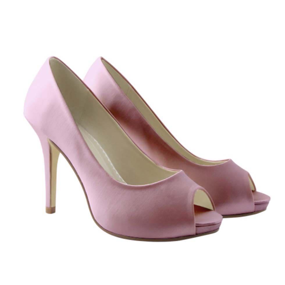 Brautschuhe färben Pink