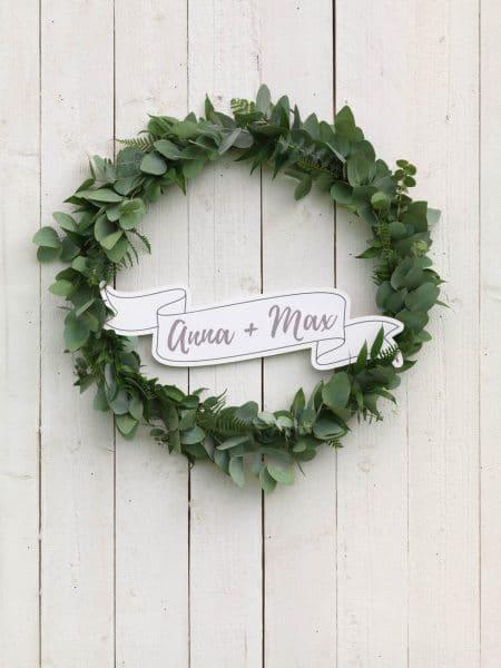 Editierbare Schild-Vorlage Hochzeit