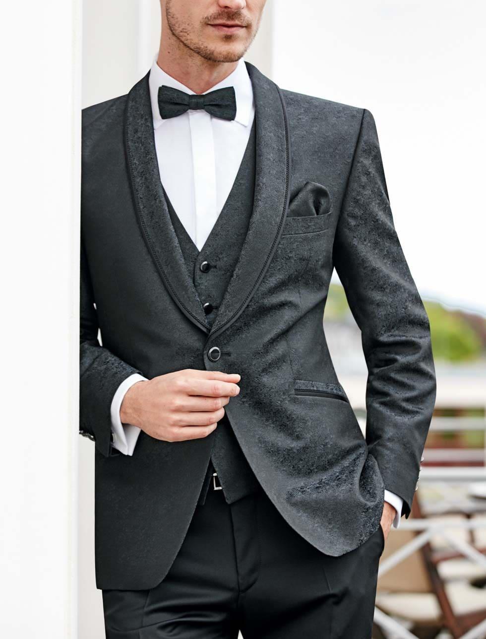 Hochzeitsanzug Herren schwarz