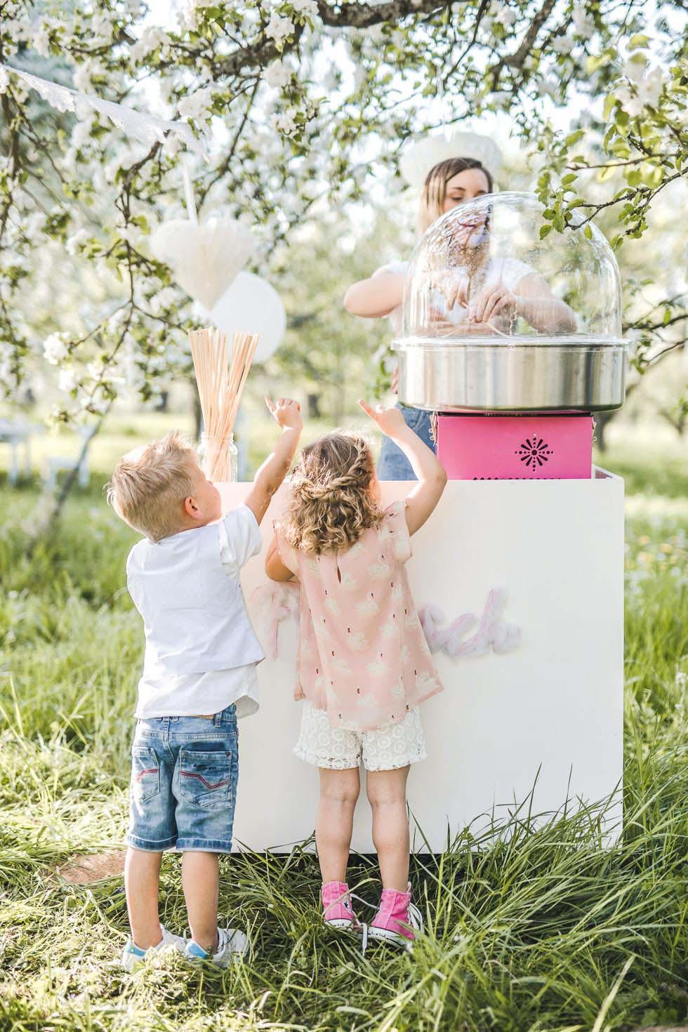 Kinder Hochzeit Zuckerwattestand