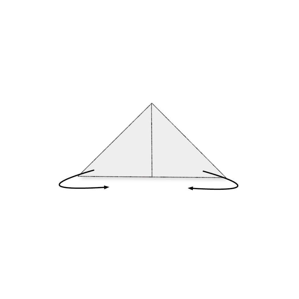 Servietten falten Flügeltor