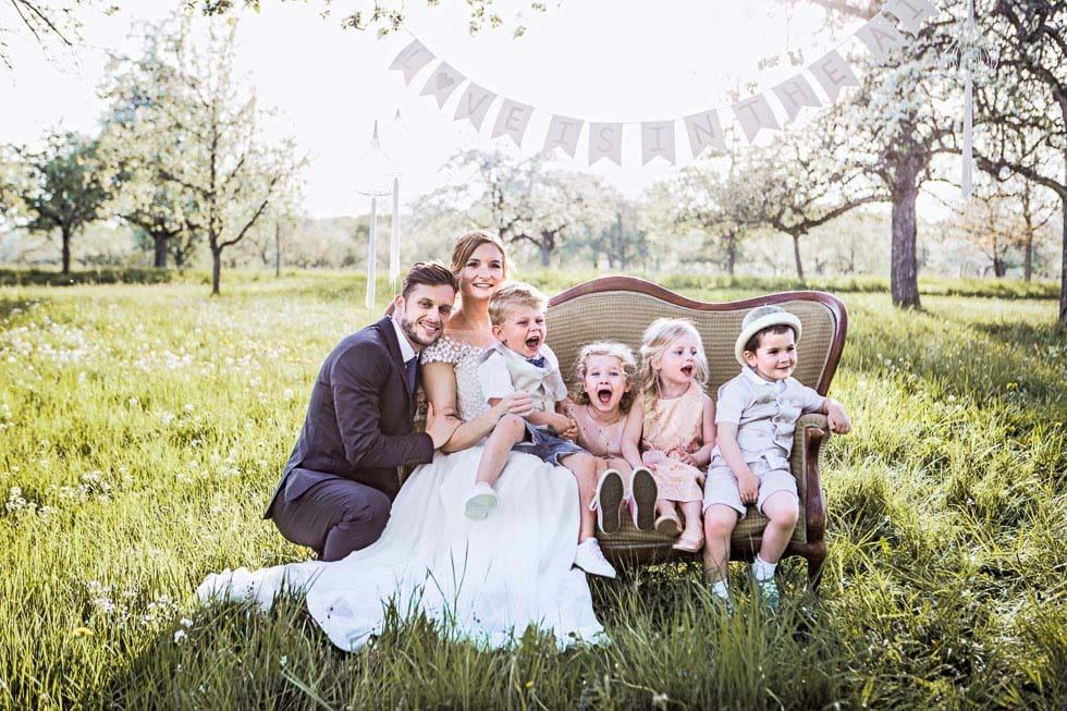 Hochzeit mit Kindern gestalten
