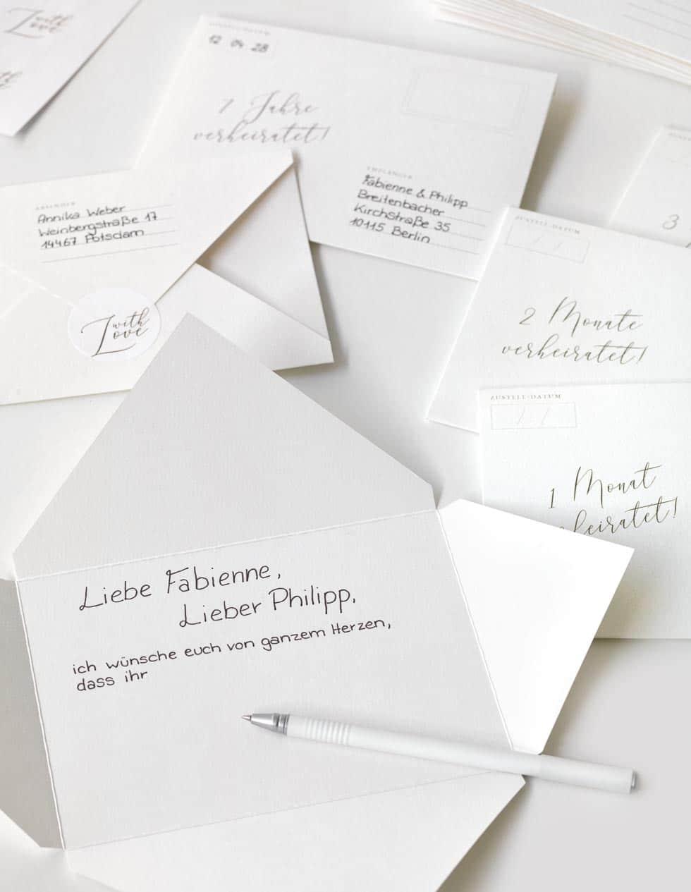 Hochzeitsbrief an das Brautpaar