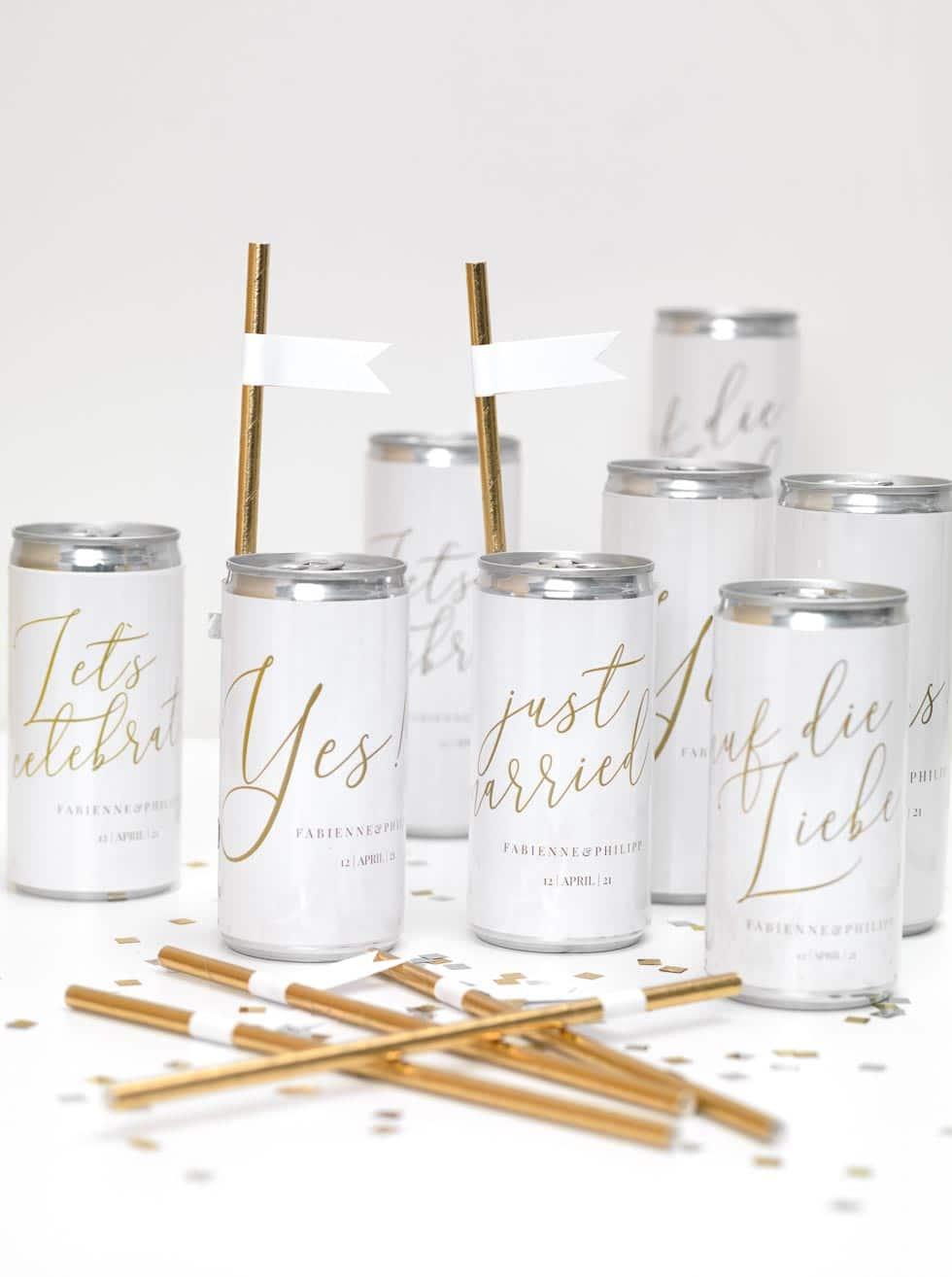 Designs Für Eure Sekt Dosen Zur Hochzeit