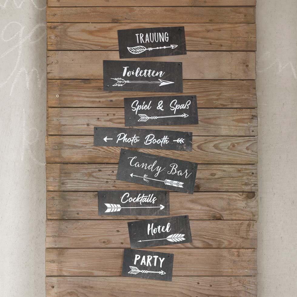 Wegweiser Hochzeit DIY