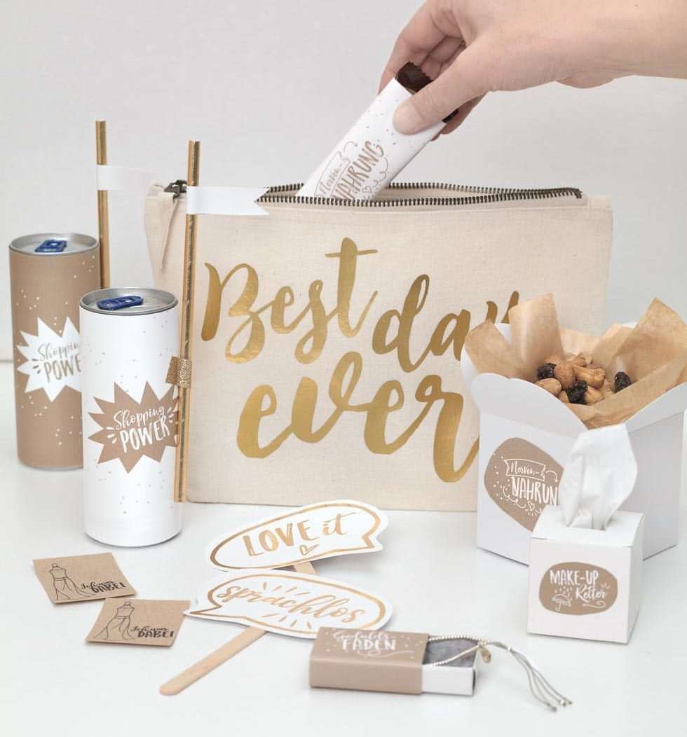 Brautshopping-Kit Geschenke