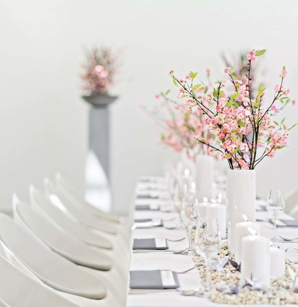 Tischdeko Hochzeit Kranich