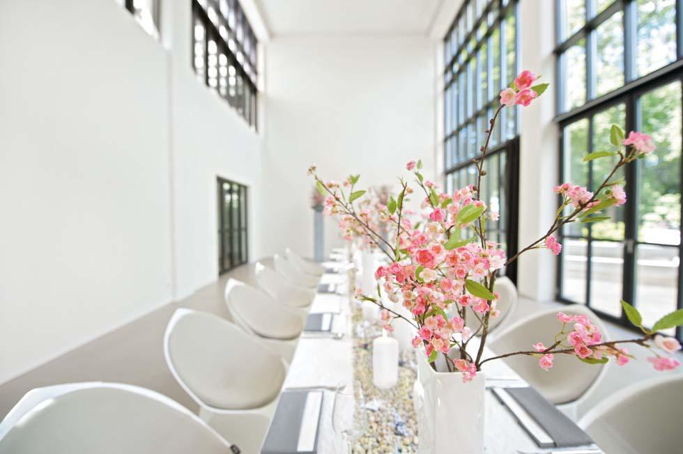 Tischdeko Kirschblüten Weiß