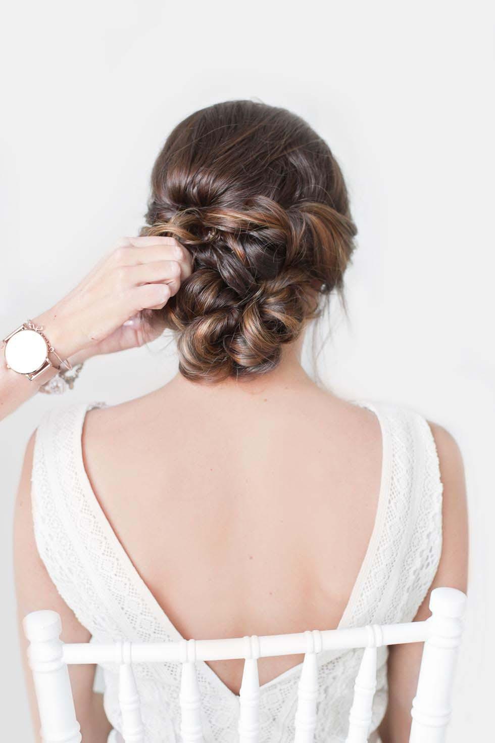 Schritt-für-Schritt Hochsteckfrisur Braut