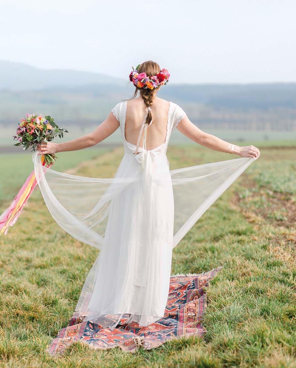 Brautkleid romantisch Boho