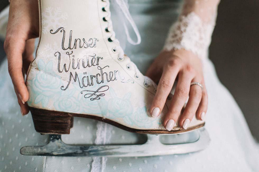 Brautschuhe Eishochzeit