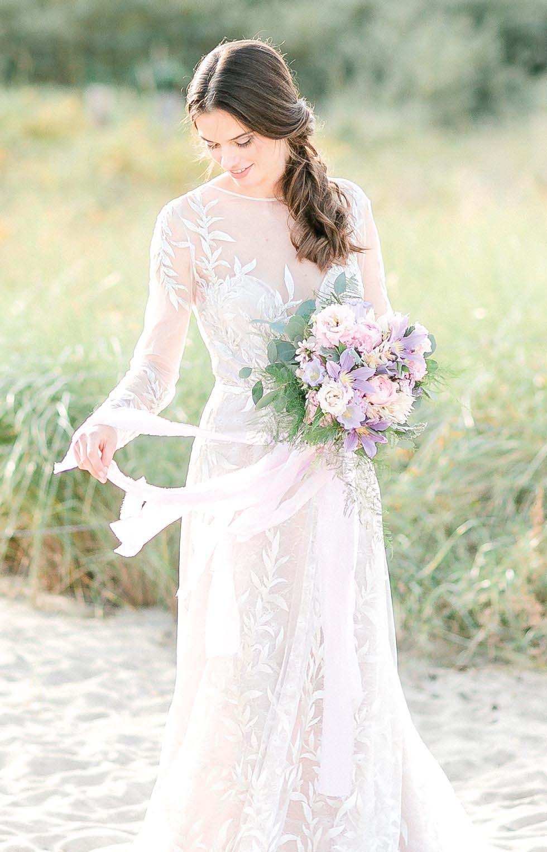 Brautstrauß Lila Creme Rosa