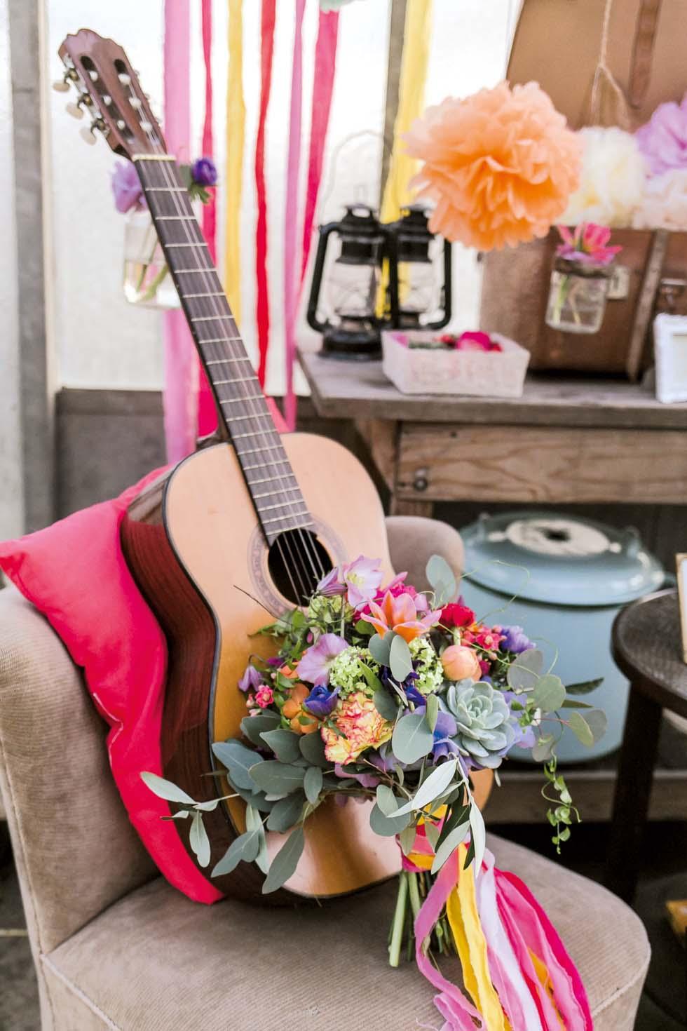 Brautstrauß Pink Lila Orange