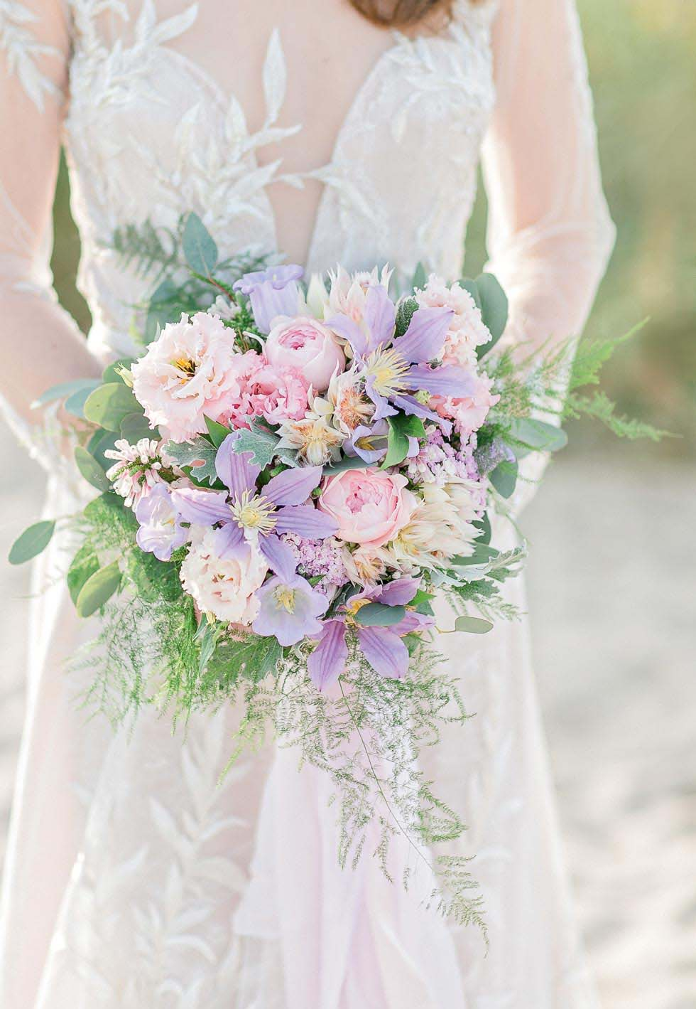 Brautstrauß Rosa Creme Lila