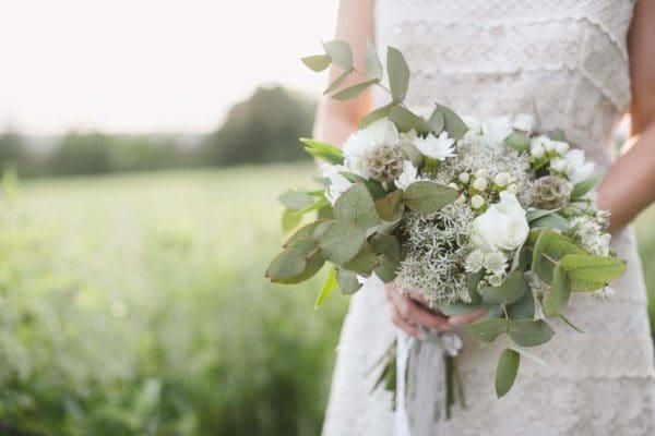 Brautstrauß Vintage grün
