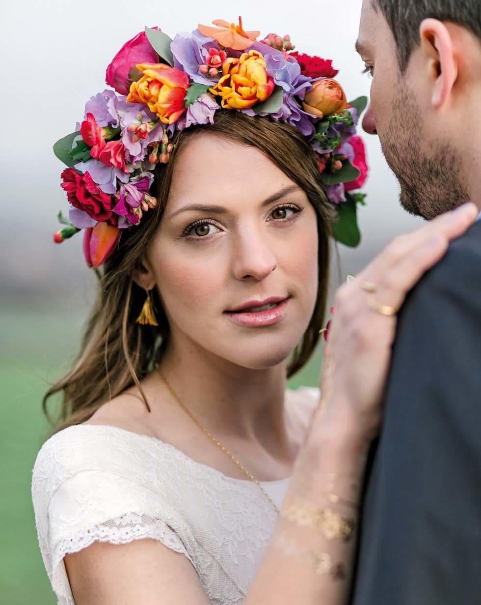 Haarschmuck Brautstyling Blumen