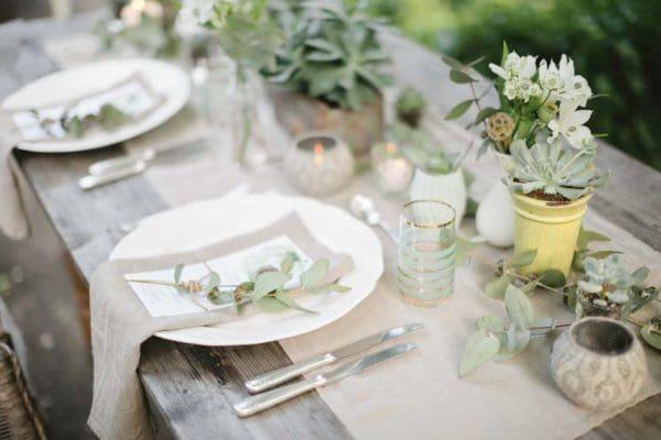 Hochzeitsdekoration Vintage Greenery