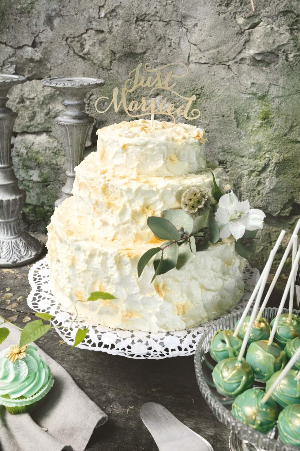 Hochzeitstorte Greenery
