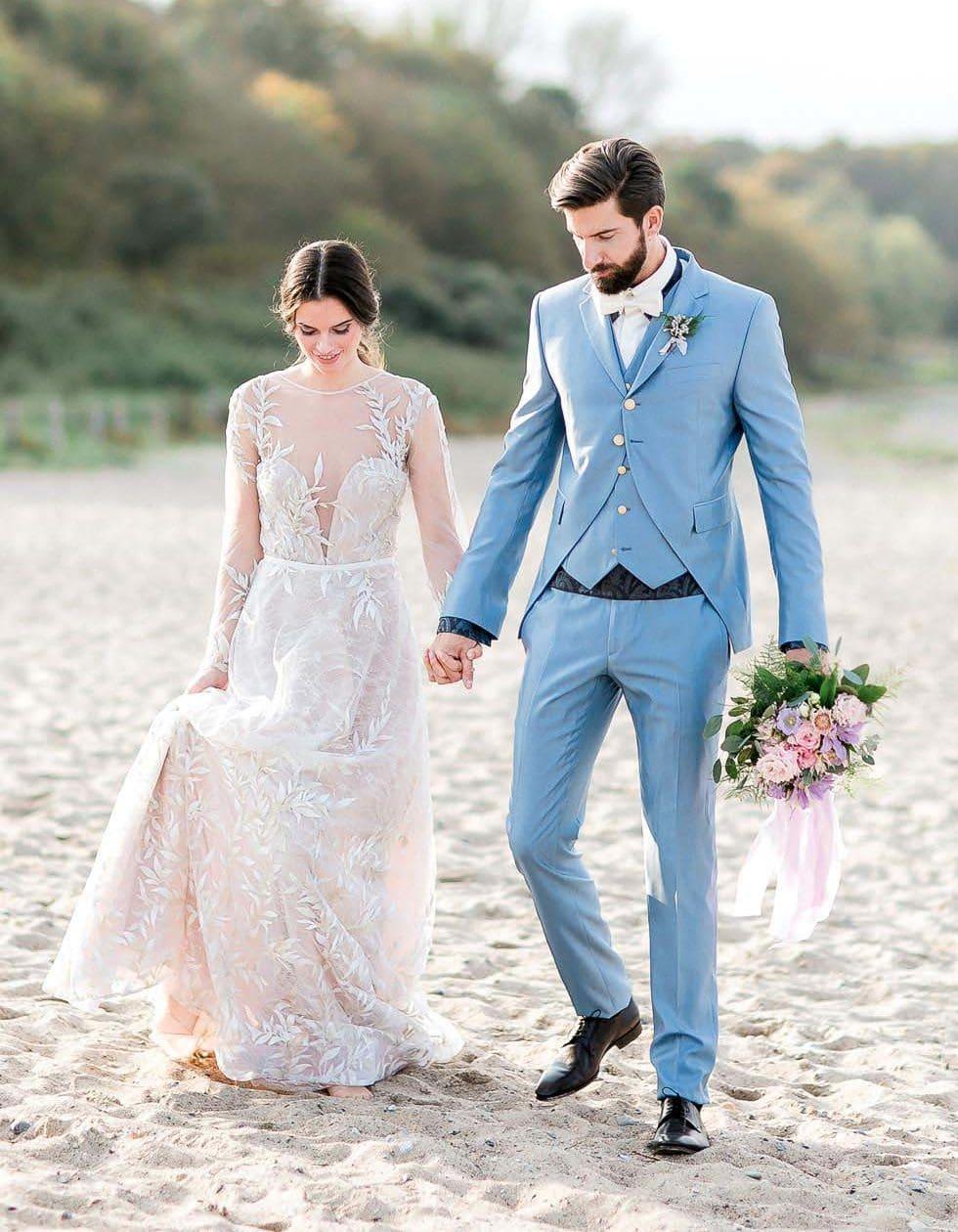 Hochzeitsfoto Brautpaar Strand